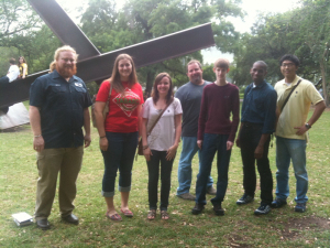 Jon with students on an art trip in Houston.