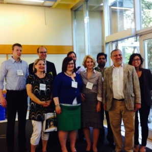 Julia's presentation group. Dr. Cohn is pictured Row 1 far right and Julia Garcia right behind.