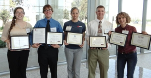 BESC Poster Symposium Winners - Angelyn Hilton Pictured on Far Right (http://plantpathology.tamu.edu/besc-poster-symposium-award-winners/)