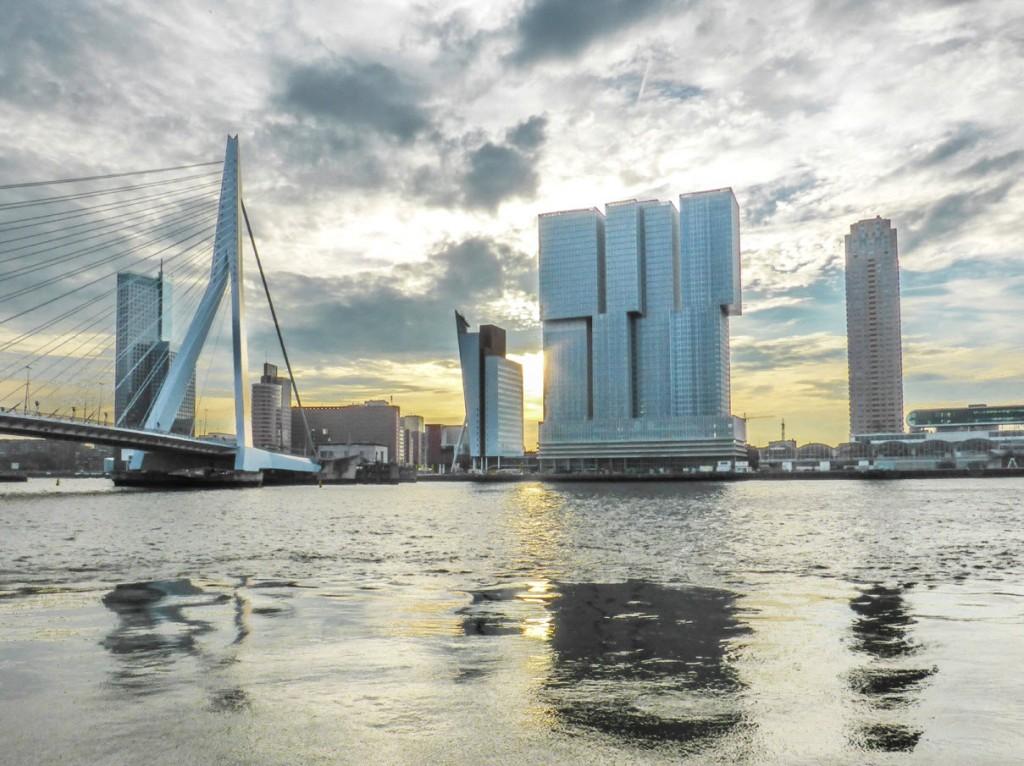 Erasmus Bridge and De Rotterdam skyscraper - Rotterdam, Netherlands