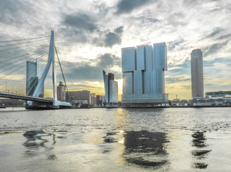 Erasmus Bridge and De Rotterdam skyscraper - Rotterdam, Netherlands