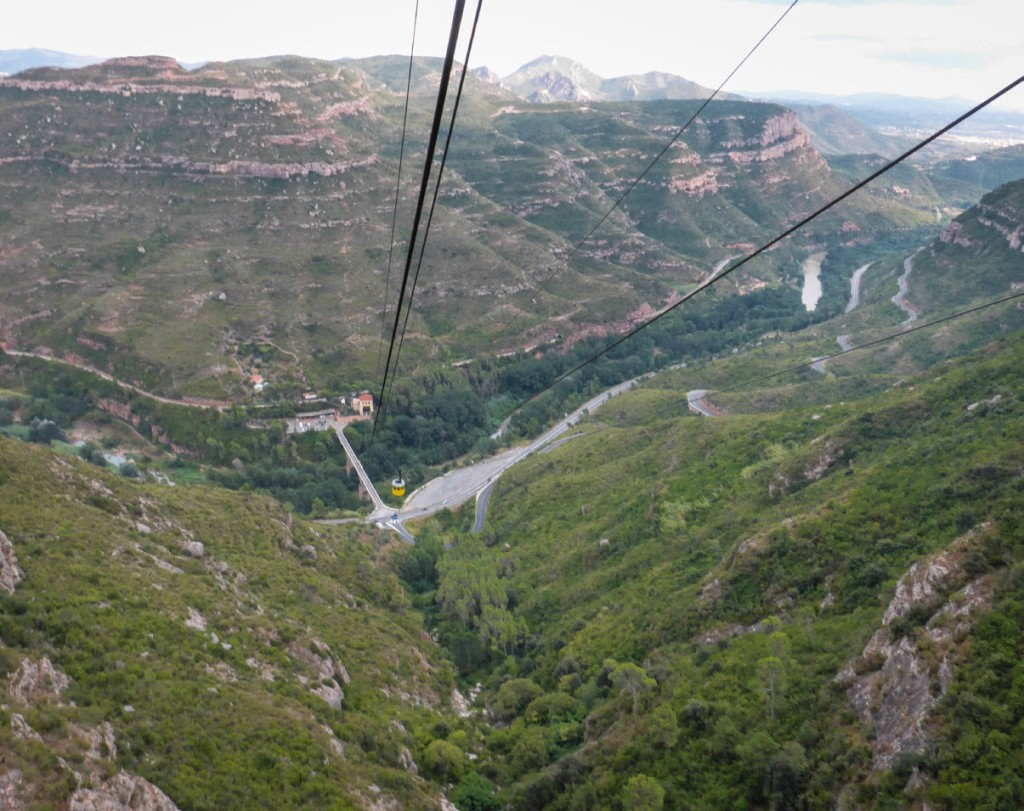 View down the Montserrat Mountain - Montserrat, Spain