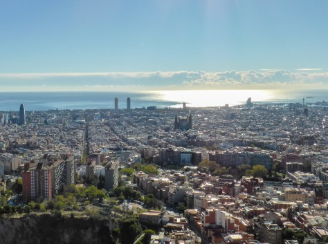 Overview of the Barcelona skyline - Barcelona, Spain