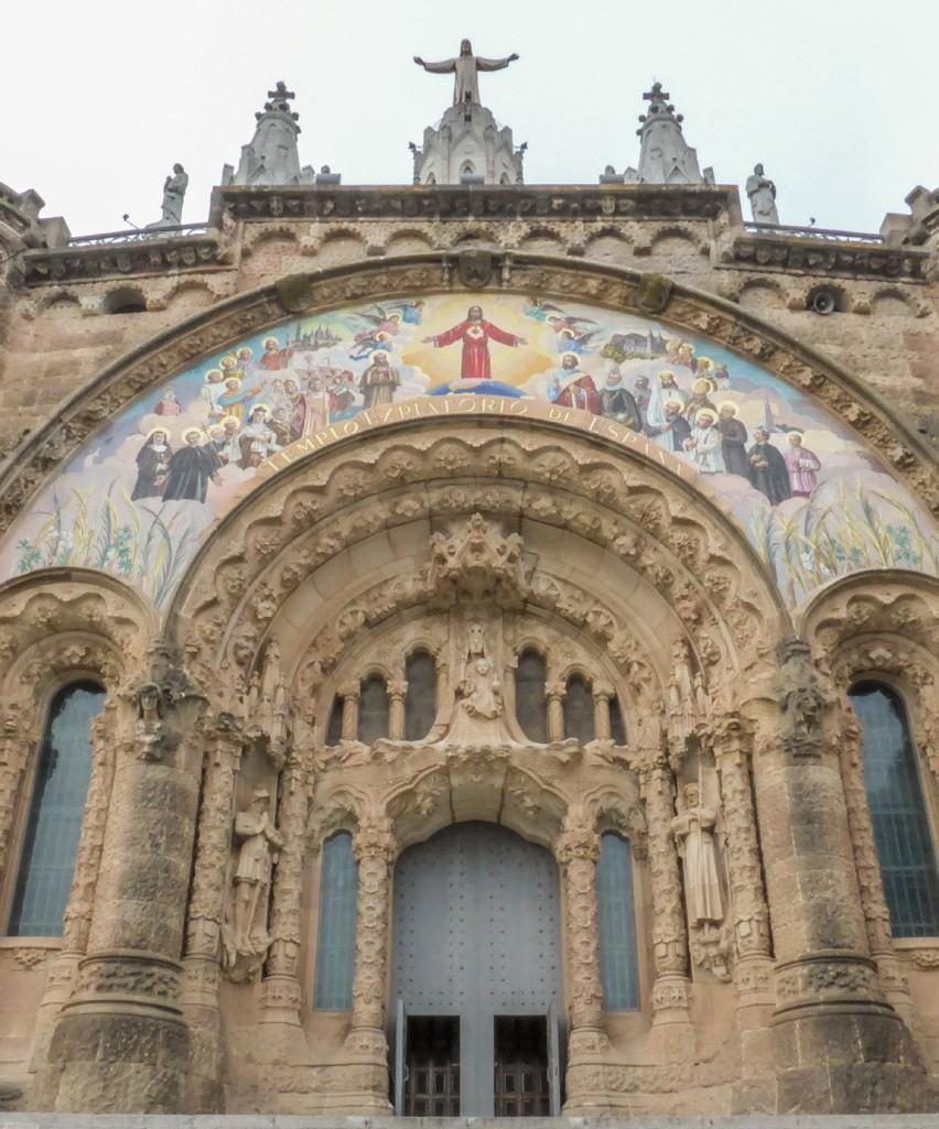 Tibidabo Cathedral de Sagrat Cor - Barcelona, Spain