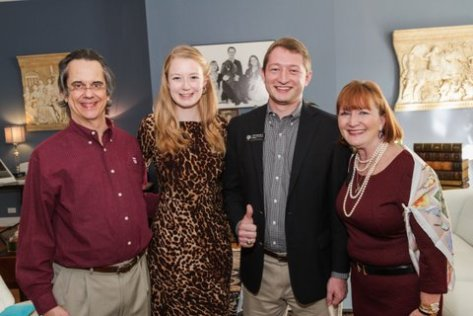Left to Right: Steve Horn '79, Adelia Humme '15, Ryan Trantham '15, and Kaye Horn.