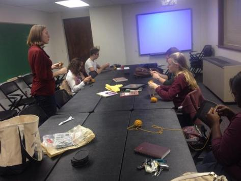 Dr. Jill Zaretsky discusses fiber arts and math with University Scholars. http://www.math.tamu.edu/~zarestky/arts--crafts--math/