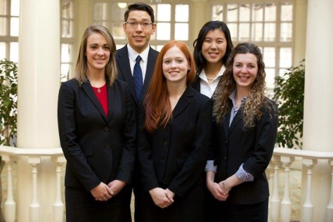 Morgan Smith, Marisa Parish, Haylee Matecko, Joshua Kim and Christina Chan