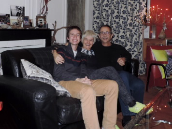 John with his French host family
