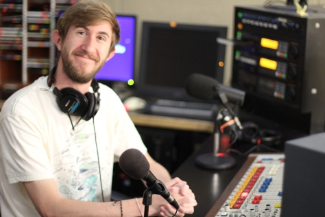 Oliver Hatfield '13, DJ for the KANM radio show blips+beats
