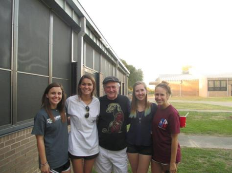 Julia McDonald '17 (left) with Dr. LeUnes (center) on a field trip to Brenham Supported Living Center.